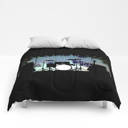 Bright Rock Band Stage Comforters