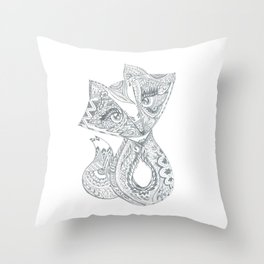 Foxy Fox Throw Pillow