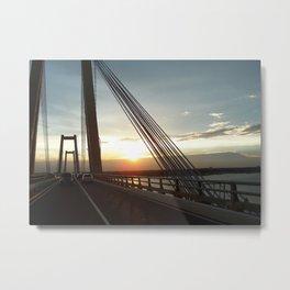 The Lake Maracaibo Bridge - III Metal Print