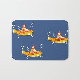 Fabric Yellow Submarine Bath Mat