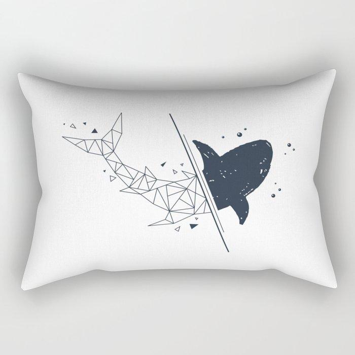 Shark. Geometric style Rectangular Pillow