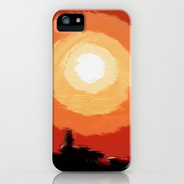 Fiery sunset in the city iPhone Case