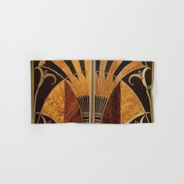 art deco wood Hand & Bath Towel