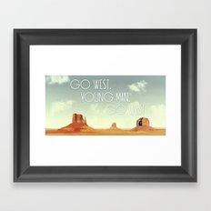 Go West, Young Man, Go West Framed Art Print
