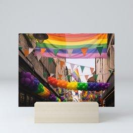 LGBT Pride Street Scene Mini Art Print