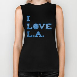 Los Angeles Street Map Biker Tank