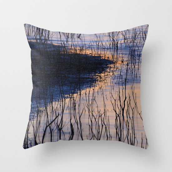 curved line Throw Pillow