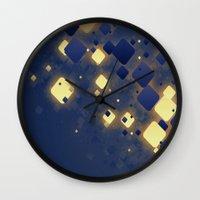 data Wall Clocks featuring Data Skys by ReinventZen