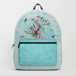 FLORAL HUMMINGBIRD Backpack