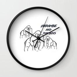 Harambe and the Boys Wall Clock