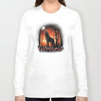 werewolf Long Sleeve T-shirts featuring Werewolf by Antracit