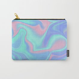 Holographic Iridescent Candy Color Liquid Abstract Carry-All Pouch