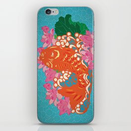 Fish (Japan Carp) Graphic with Japan Painting Style iPhone Skin