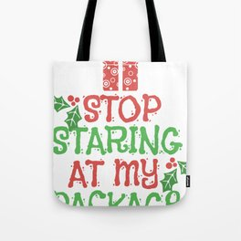 Christmas Gifts Packages Kids Funny Shirt Tote Bag