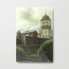 Vyborg Castle Gloom 2 Metal Print