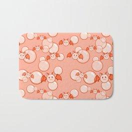 Bubbles and Bats Peach Bath Mat