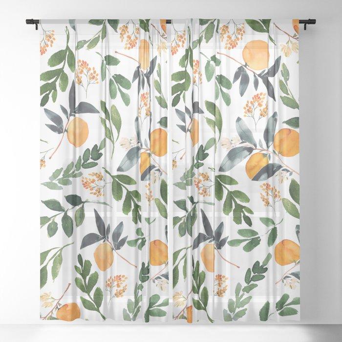 Orange Grove Sheer Curtain
