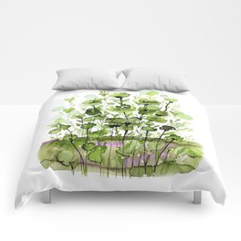Floral Charm No.1I by Kathy Morton Stanion Comforters