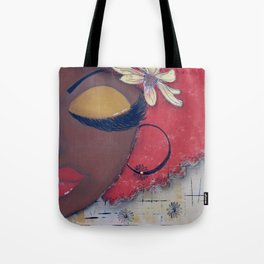 Chocolate Sassy Girl Tote Bag