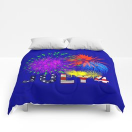 America 4th of July Fireworks Comforters