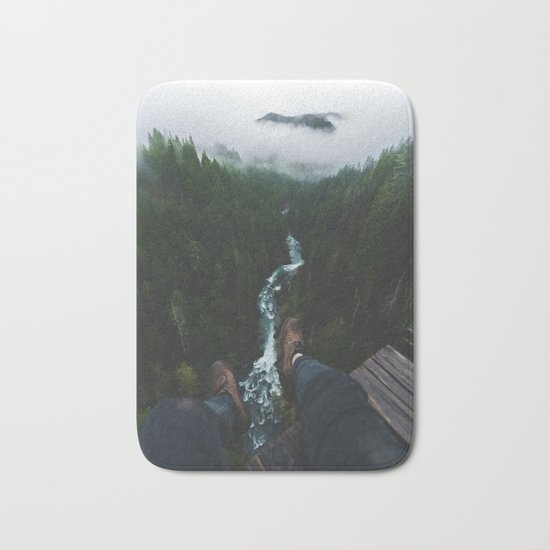 See you at the top! | Vance Creek Bridge - Olympic National Park, WA Bath Mat