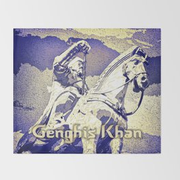 Spirit of the Great Gobi Desert - Genghis Khan Throw Blanket