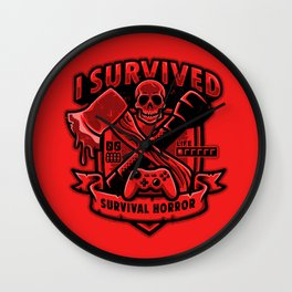 I Survived Survival Horror Wall Clock