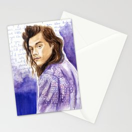 """Harry Styles and """"Perfect"""" lyrics Stationery Cards"""