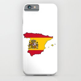 Spain Map with Spanish Flag iPhone Case