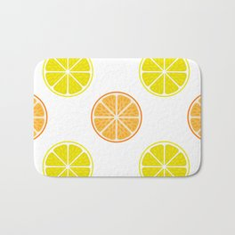 Orange and lemon fruit slices Bath Mat