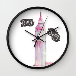 Big Ben Ding Dong Watercolor Wall Clock