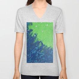Blue & Green, No. 1 Unisex V-Neck