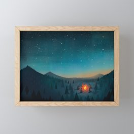 Campfire Framed Mini Art Print