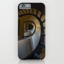 Pretty spiral wooden staircase iPhone Case