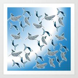 The Whale Swim Art Print