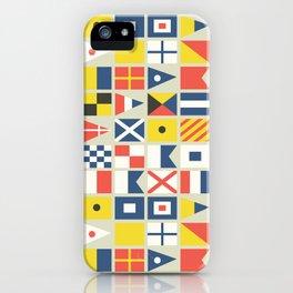 Geometric Nautical flag and pennant iPhone Case