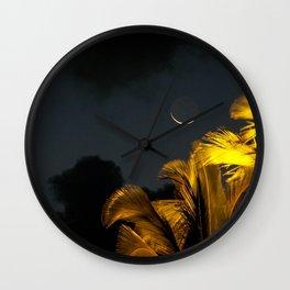 sliver moon Wall Clock