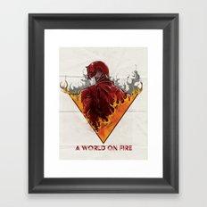 A World on Fire Framed Art Print