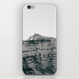 Black and White Wasatch Mountains iPhone Skin