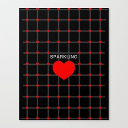 Sparkling Heart Canvas Print