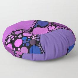 melissa redux: magenta grape purple abstract design Floor Pillow