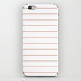 Millennial Pink Breton Stripes iPhone Skin