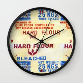 Flour Bags Wall Clock