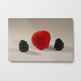 Strawberry Blackberry Metal Print