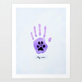 Dog Mom Art Print