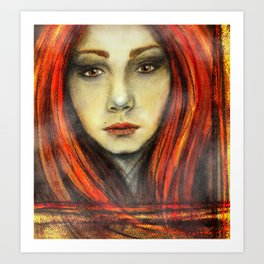 A Girl Called Ina Art Print