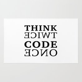 Think twice Code once Rug