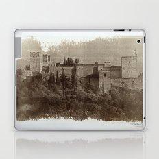 The Alhambra palace: The  Alcazaba. Calotipe Laptop & iPad Skin