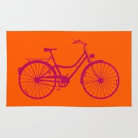bicycle Area & Throw Rugs featuring Bicycle by Mr and Mrs Quirynen
