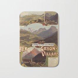 affiche Bex-Gryon Villars Bath Mat